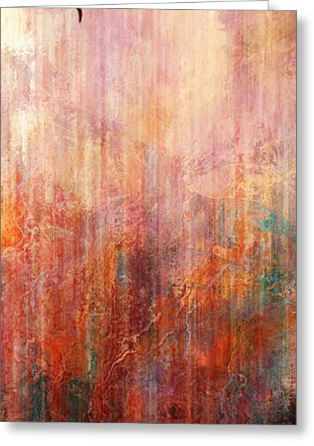 Flight Home - Abstract Art Greeting Card