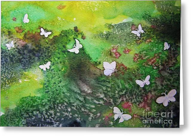 Flight Of White Greeting Card