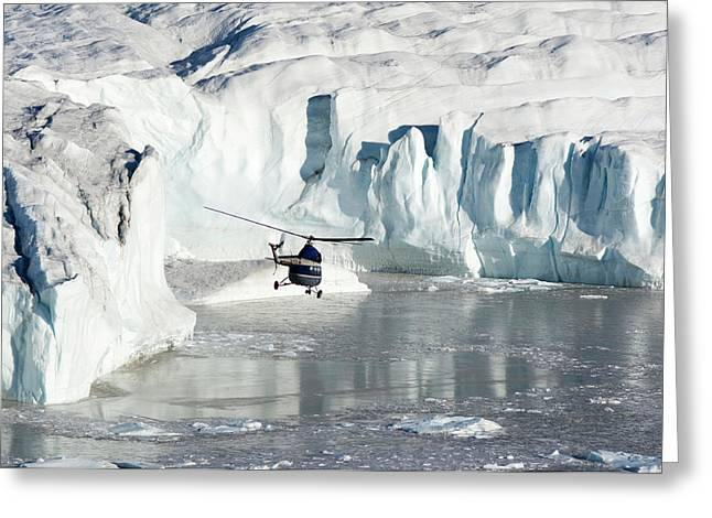 Flight-seeing Over Wordie Glacier Greeting Card by Daisy Gilardini