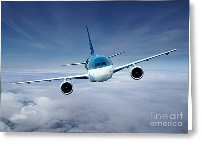 Flightcheck Greeting Card by Ma Bu