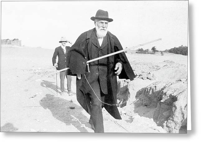 Flinders Petrie In Egypt Greeting Card by Petrie Museum Of Egyptian Archaeology, Ucl