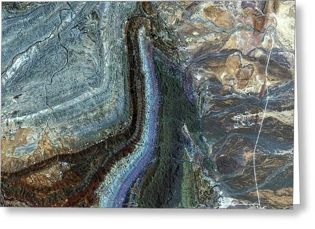 Flinders Ranges Greeting Card by Jaxa/european Space Agency