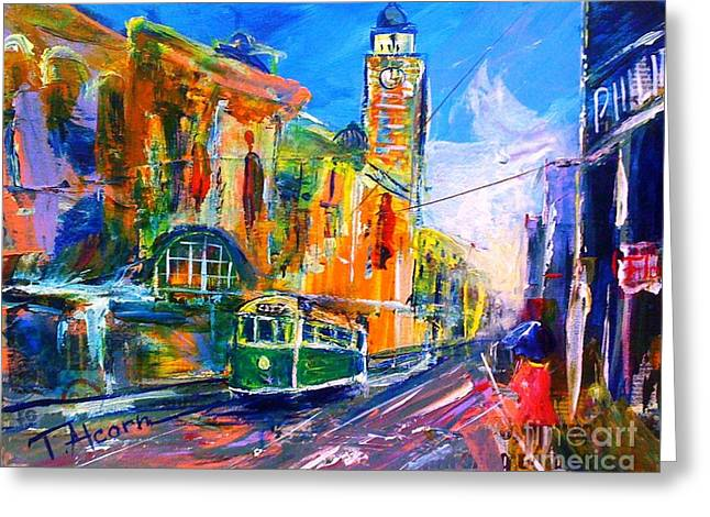 Flinders Street - Original Sold Greeting Card