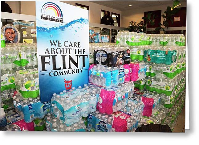 Flint Bottled Water Donation Greeting Card