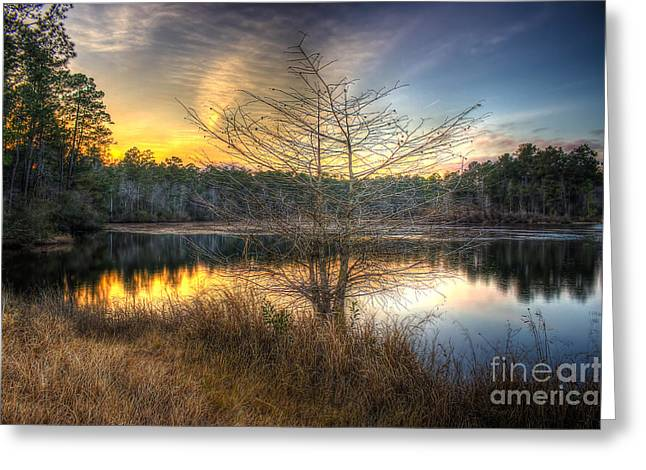 Flint Creek Sundown Greeting Card