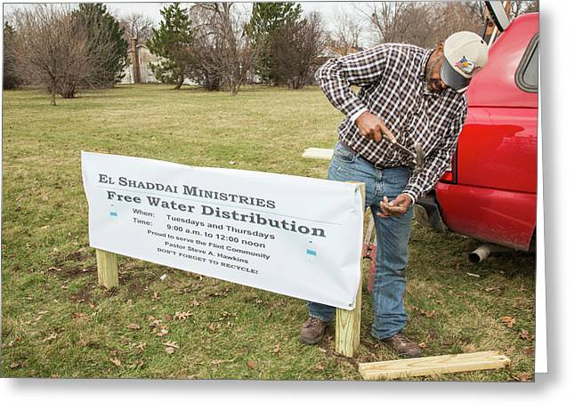 Flint Drinking Water Distribution Greeting Card