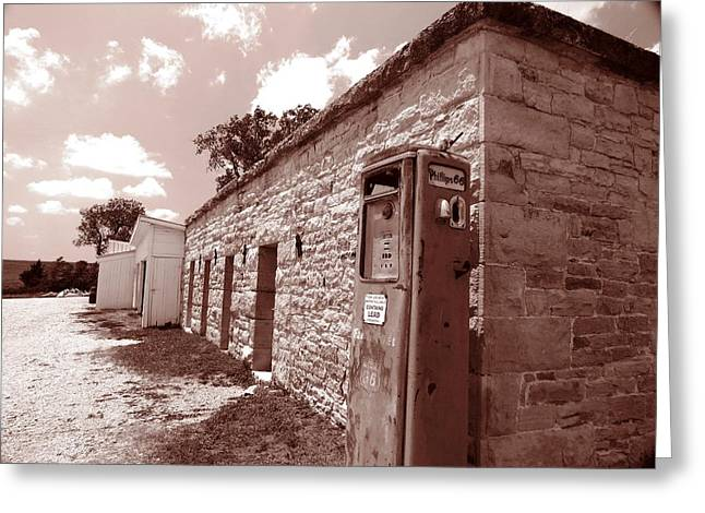 Flint Hills Gas Station Greeting Card by Ed Golden