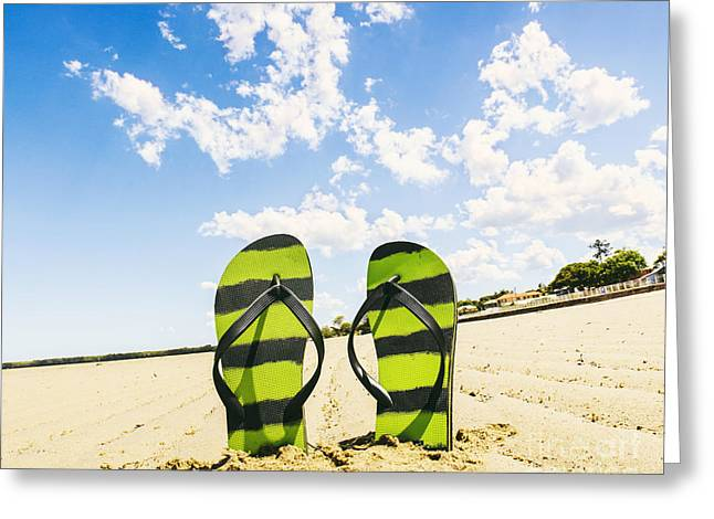 Flip Flop Stop Greeting Card by Jorgo Photography - Wall Art Gallery
