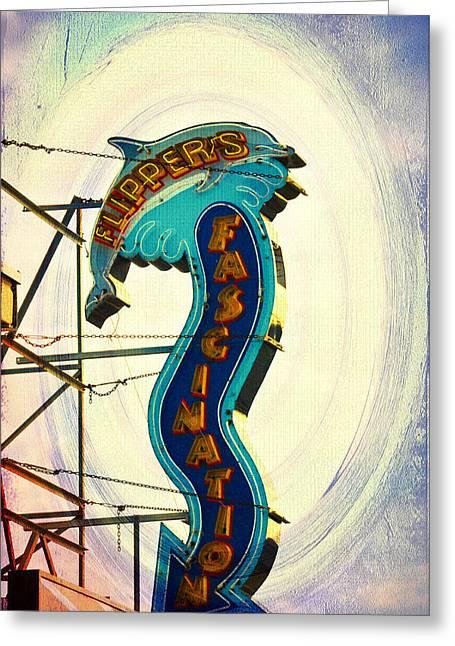 Flippers Facination - Wildwood Boardwalk Greeting Card