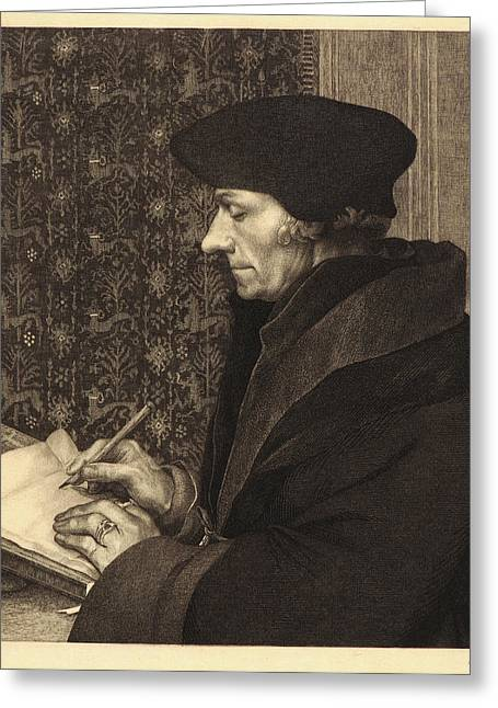 Félix Bracquemond French, 1833 - 1914 After Hans Holbein Greeting Card by Litz Collection