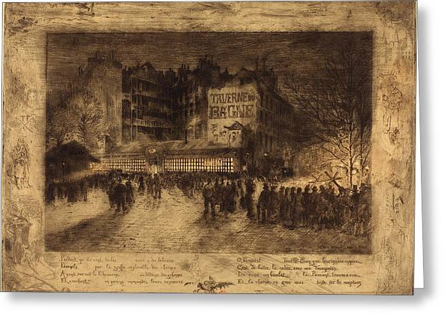 Félix-hilaire Buhot French, 1847 - 1898, La Place Des Greeting Card