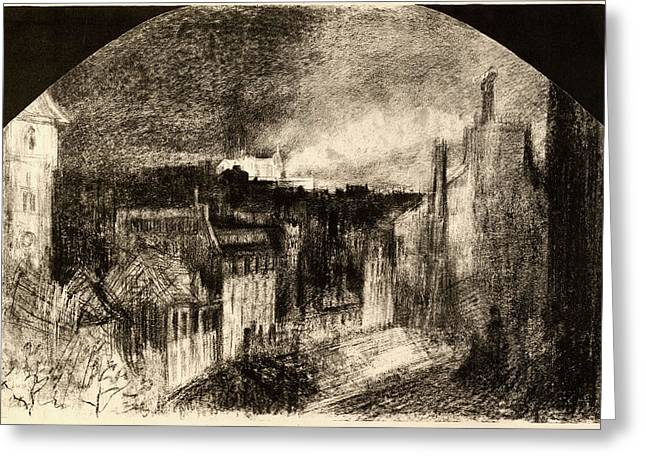 Félix-hilaire Buhot, Montmartre Le 14 Juillet Bastille Day Greeting Card by Litz Collection