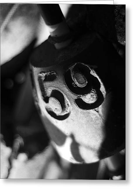 Float Number 59 - Black And White Greeting Card by Rebecca Sherman