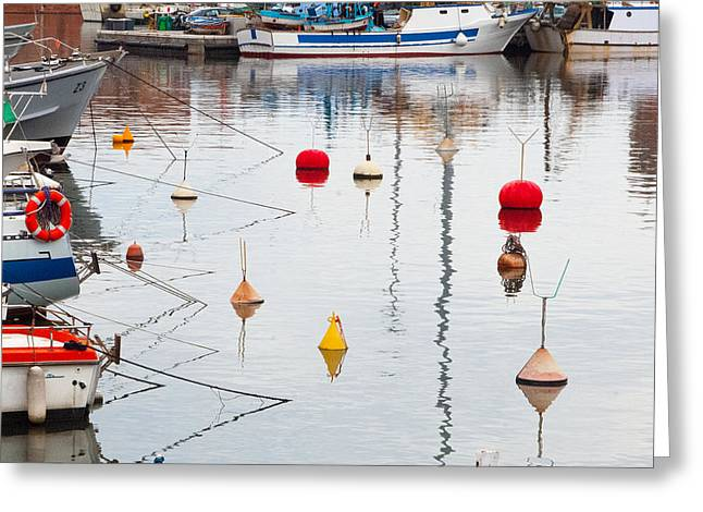 Float The Boats Greeting Card by Michael Flood