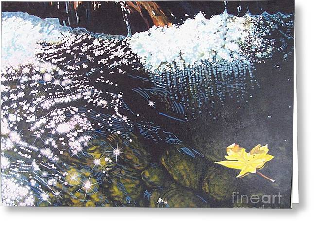 Floating By Greeting Card by Devon Featherstone