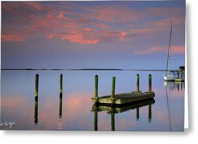 Floating Docks Greeting Card by Phill Doherty