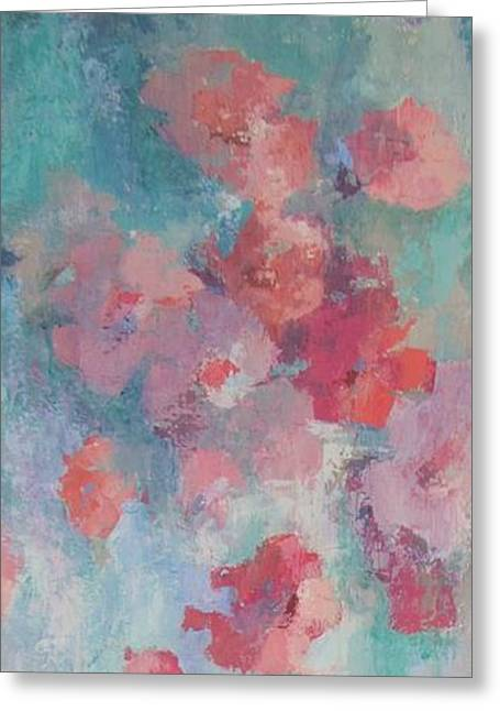Floating Flowers Painting Greeting Card