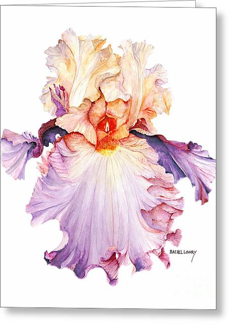 Floating Iris 2 Greeting Card
