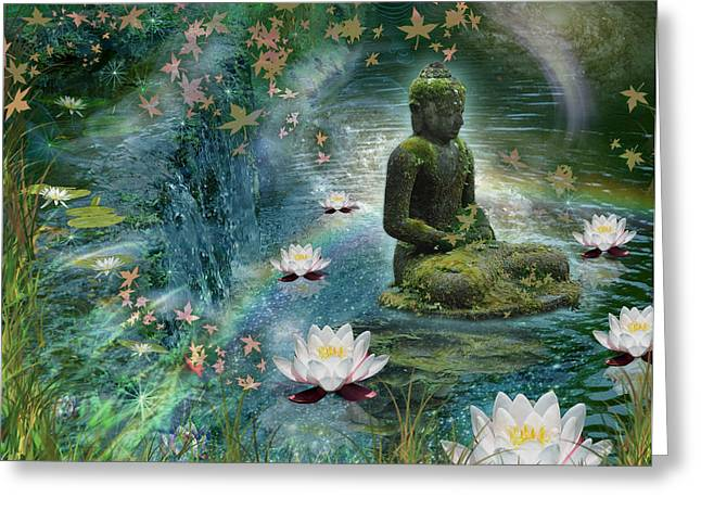 Floating Lotus Buddha Greeting Card