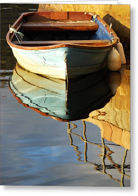 Floating On Blue 4 Greeting Card