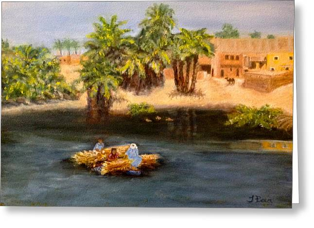 Floating On The Nile Greeting Card