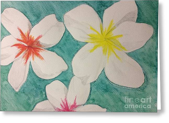 Floating Plumeria Greeting Card