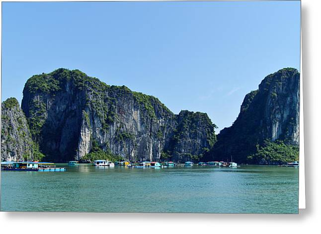 Floating Village Ha Long Bay Greeting Card