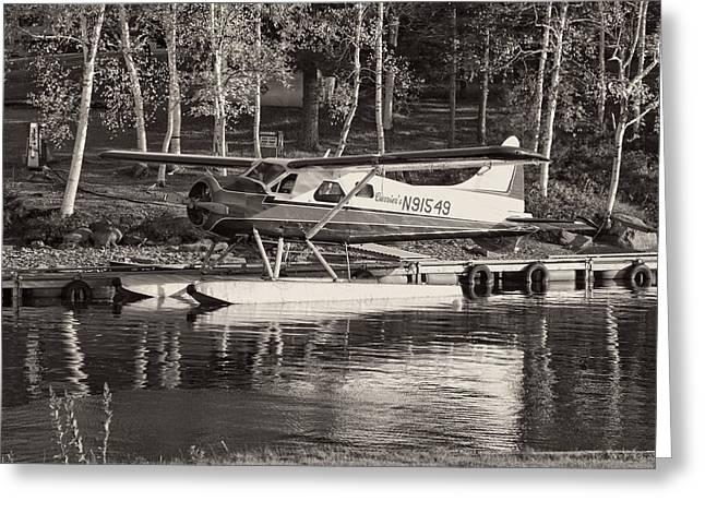 Floatplane On Moosehead Lake In Maine Greeting Card by Keith Webber Jr