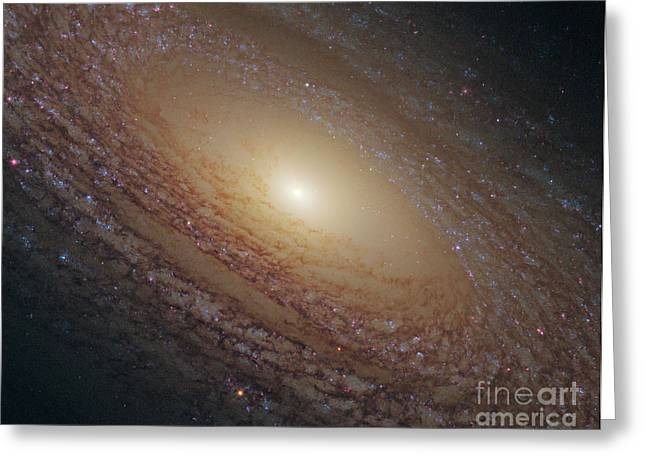 Flocculent Spiral Galaxy Ngc 2841 Greeting Card