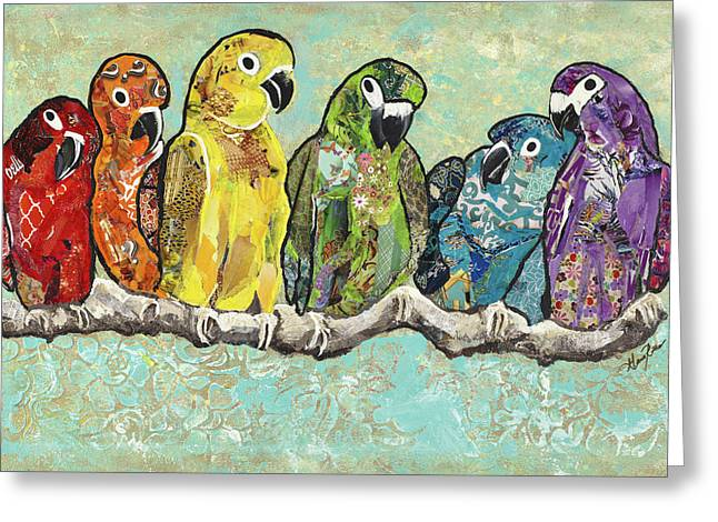 Flock Of Colors Greeting Card