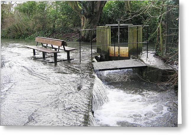 Flooded Sluice Gate Greeting Card