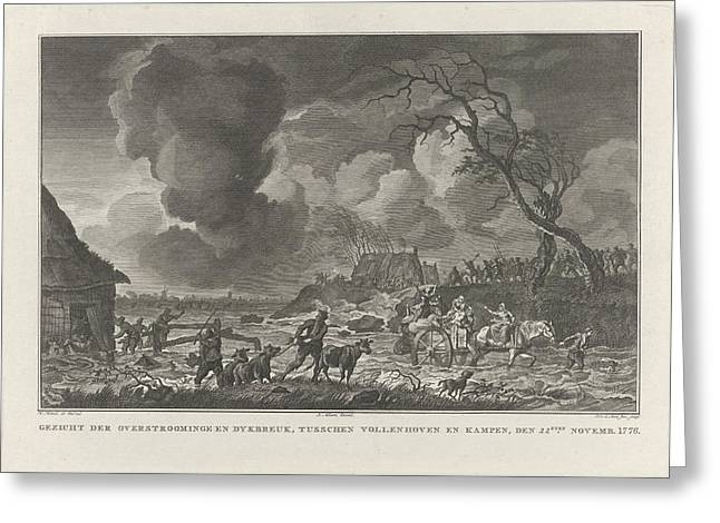 Flooding Between Vollenhove And Kampen, 1776 The Netherlands Greeting Card