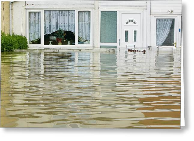 Flooding In Toll Bar Greeting Card