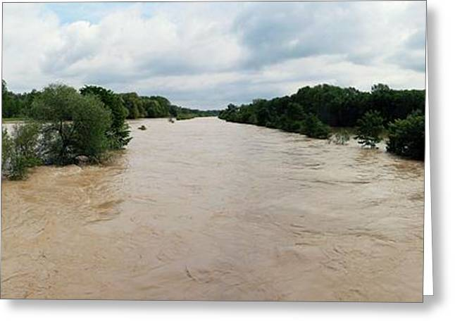 Flooding On The River Thur Greeting Card by Michael Szoenyi