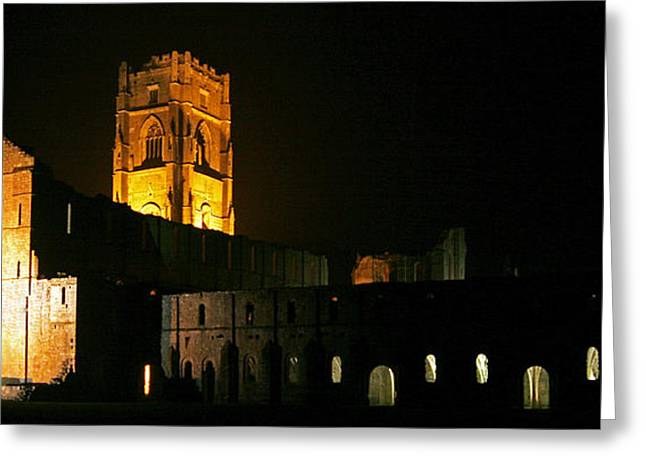 Floodlit Fountains Abbey Greeting Card