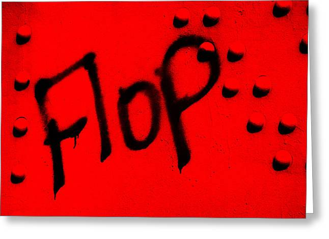 Flop In Red Greeting Card by Randi Kuhne