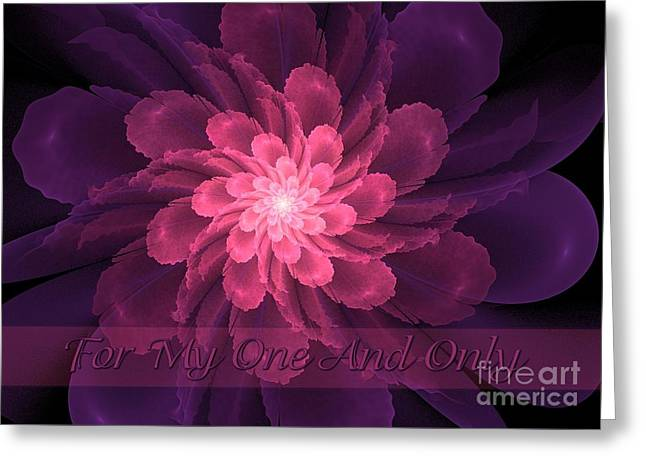 Flor De La Pasion One And Only Greeting Card by JH Designs