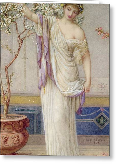 Flora, 1873 Greeting Card by Augustus Jules Bouvier