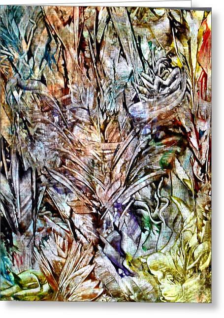 Flora Greeting Card by Danya Hammoudi