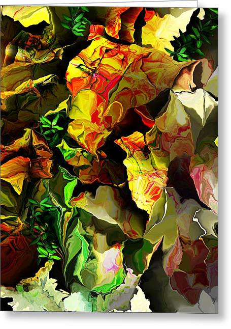 Greeting Card featuring the digital art Floral 082114 by David Lane