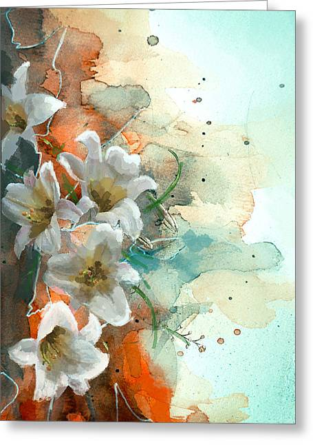 Floral 14 Greeting Card by Mahnoor Shah