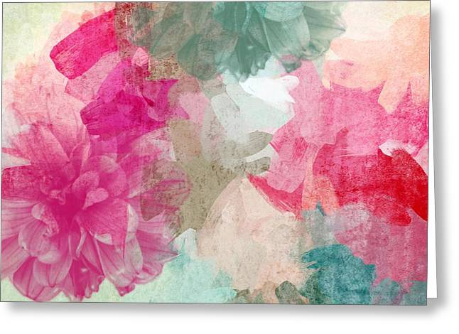 Floral Abstract Greeting Card by Irena Orlov