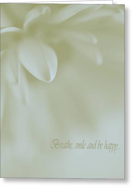 Floral Abstract Peacefulness Greeting Card