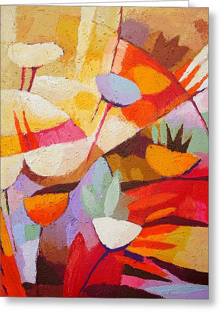 Floral Abstraction Greeting Card by Lutz Baar