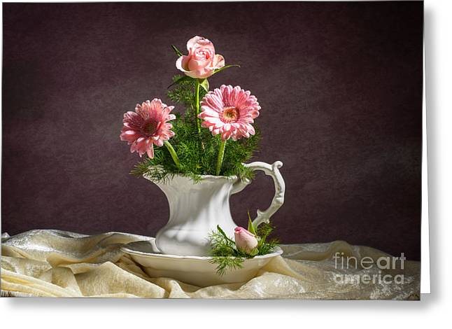 Floral Arrangement Greeting Card by Amanda Elwell