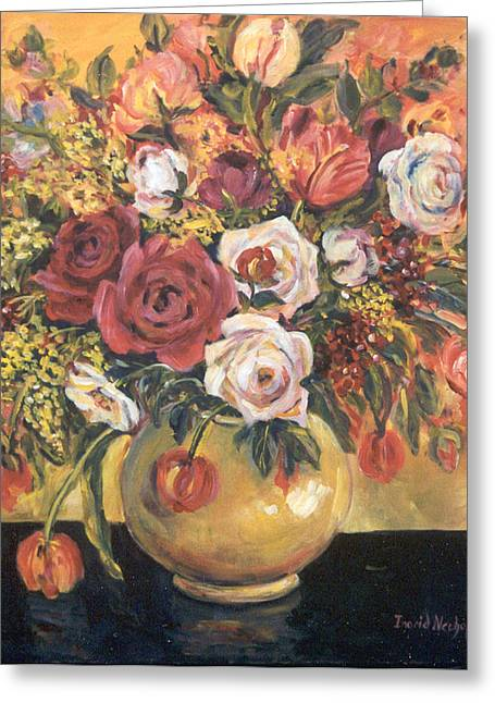 Floral Arrangement Greeting Card by Alexandra Maria Ethlyn Cheshire