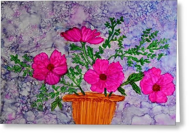 Floral Arrangement Greeting Card by Linda Brown