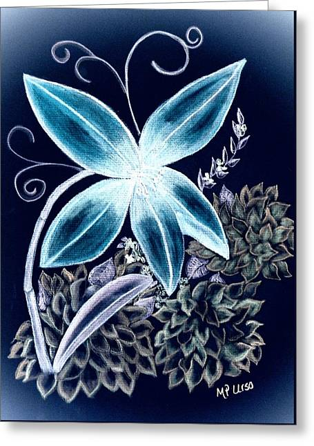 Floral Art 14-3 Greeting Card by Maria Urso