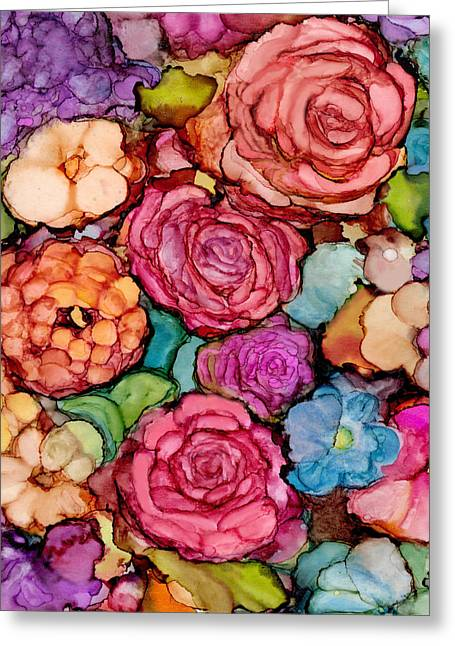 Floral Blanket Greeting Card