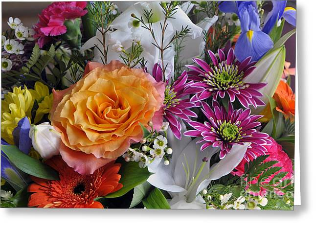 Floral Bouquet 6 Greeting Card by Sharon Talson
